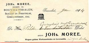 GE_MOREE_001 Geervliet, Moree - Johs. Moree. Handel in bouwmaterialen, silicaat en parafinlak, cementwerken enz., (1914)