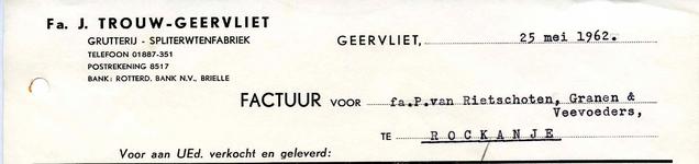 GE_TROUW_002 Geervliet, Trouw - Fa. J. Trouw, Geervliet. Grutterij - Spliterwtenfabriek, (1962)