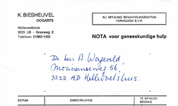 HE_BIESHEUVEL_001 Hellevoetsluis, Biesheuvel - K. Biesheuvel, oogarts, (1983)