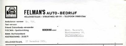 HE_FELMAN_002 Hellevoetsluis, Felman - Felman's Auto-bedrijf. Ambulance-vervoer, taxi-vervoer, Erkend ...