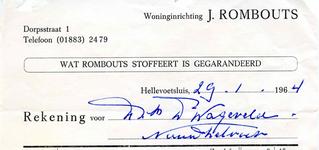 HE_ROMBOUTS_001 Hellevoetsluis, Rombouts - Woninginrichting J. Rombouts (wat Rombouts stoffeert is gegarandeerd), (1964)