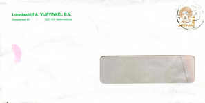 HE_VIJFVINKEL_001 Hellevoetsluis, Vijfvinkel - Loonbedrijf A. Vijfvinkel B.V. (ENVELOPPE), (1993)