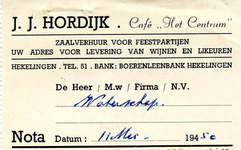 HK_HORDIJK_001 Hekelingen, Hordijk - Café Het Centrum , zaalverhuur voor feestpartijen. Uw adres voor levering van ...
