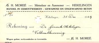 HK_MOREE_005 Hekelingen, Moree - H. Moreé. Metselaar en Aannemer. Handel in cementwerken - gewapend en ongewapend ...
