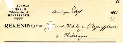 HK_SCHOLS_002 Hekelingen, Schols - Schols, Smederij, (1932)