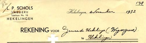 HK_SCHOLS_003 Hekelingen, Schols - L.P. Schols, Smederij, (1932)