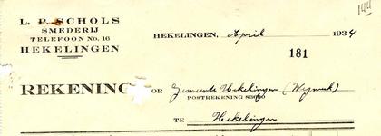 HK_SCHOLS_004 Hekelingen, Schols - L.P. Schols, Smederij, (1934)
