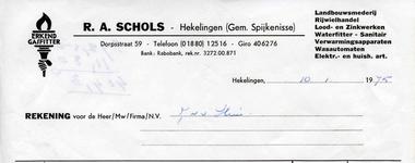 HK_SCHOLS_005 Hekelingen, Schols - R.A. Schols, Landbouwsmederij, Rijwielhandel, Lood- en zinkwerken, waterfitter - ...