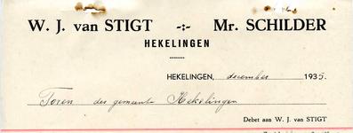 HK_STIGT_003 Hekelingen, Stigt - W.J. van Stigt, Mr. Schilder, (1935)