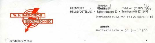 HV_BARENDRECHT_005 Heenvliet, Barendrecht - W.H. Barendrecht, elektrotechniek, (1966)