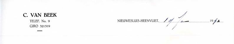 HV_BEEK_001 Heenvliet, Van Beek - C. van Beek, (1942)