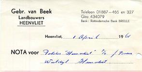 HV_BEEK_002 Heenvliet, van Beek - Gebr. van Beek, landbouwers Heenvliet, (1961)