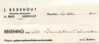 HV_BERKHOUT_001 Heenvliet, Berkhout - J. Berkhout, metselaar-aannemer, (1925)