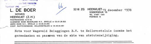 HV_BOER_001 Heenvliet, De Boer - L. de Boer, notaris Heenvliet, (1978)