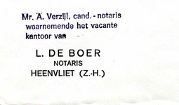 HV_BOER_002 Heenvliet, De Boer - L. de Boer, notaris Heenvliet (ENVELOPPE)