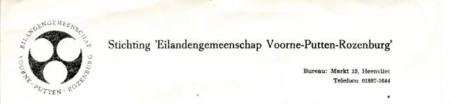 HV_EILANDENGEMEENSCHAP_001 Heenvliet, Eilandengemeenschap - St. Eilandengemeenschap Voorne-Putten-Rozenburg , (1971)