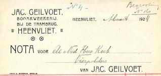 HV_GEILVOET_002 Heenvliet, Geilvoet - Jac. Geilvoet, boomkweekerij bij de trambrug Heenvliet, (1924)