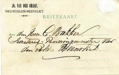 HV_GRAAF_002 Heenvliet, Van der Graaf - Jb. van der Graaf, Nieuwesluis (BRIEFKAART), (1907)