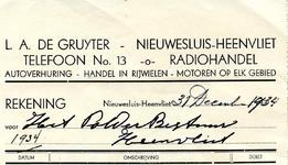 HV_GRUYTER_001 Heenvliet, De Gruyter - L.A. de Gruyter, Radiohandel, autoverhuring - handel in rijwielen - motoren op ...
