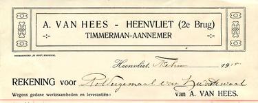 HV_HEES_002 Heenvliet, Van Hees - A. van Hees, timmerman-aannemer Heenvliet, (1915)