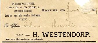 HV_WESTENDORP_001 Heenvliet, Westendorp - H. Westendorp, Manufacturen, sigaren, kantoorbehoeften, levering van alle ...