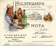 NH_BAN_002 Nieuw-Helvoet, Van den Ban - Hulstkamp's oude genever en fijne likeuren. Opgericht in 1775. Handel in wijnen ...