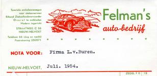 NH_FELMAN_001 Nieuw-Helvoet, Felman - Felman's auto-bedrijf. Speciale ambulancewagen voor ziekenvervoer. Erkend ...