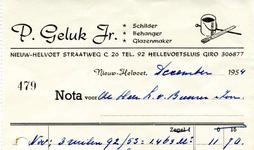 NH_GELUK_002 Nieuw-Helvoet, Geluk - P. Geluk Jr. Schilder, Behanger, Glazenmaker, (1954)