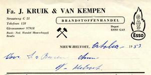 NH_KRUIK_003 Nieuw-Helvoet, Kruik - Fa. J. Kruik en van Kempen. Brandstoffenhandel. Depot Esso Gas, (1953)