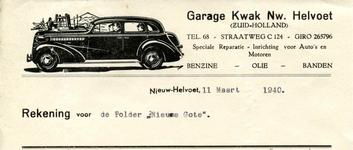 NH_KWAK_002 Nieuw-Helvoet, Kwak - Garage Kwak Nw. Helvoet. Speciale Reparatie-inrichting voor auto's en motoren. ...