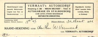 NH_VERMAAT_002 Nieuw-Helvoet, Vermaat - Vermaat's Autobedrijf. Autogarage en stalhouderij. Luxe auto's steeds ...