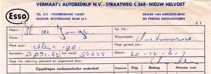 NH_VERMAAT_007 Nieuw-Helvoet, Vermaat - Vermaat's autobedrijf N.V., (1961)