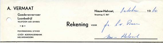 NH_VERMAAT_011 Nieuw-Helvoet, Vermaat - A. Vermaat, Goederenvervoer, loonbedrijf, (1960)