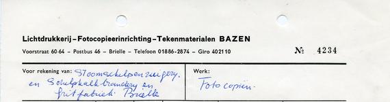 BR_BAZEN_011 Brielle, Bazen - Lichtdrukkerij - Fotocopieerinrichting - Tekenmaterialen Bazen