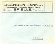 BR_EILANDEN_004 Brielle, Eilanden Bank - Eilanden Bank n.v. (gevestigd te brielle sedert 1831) kantoor: Brielle (ENVELOPPE)