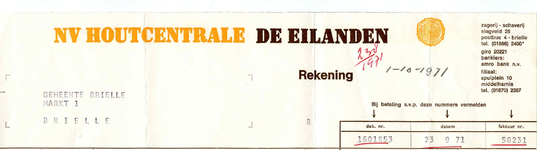 BR_HOUTCENTRALE_007 Brielle, N.V. Houtcentrale De Eilanden - N.V. Houtcentrale De Eilanden , zagerij, schaverij, (1971)