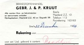 BR_KRUIJT_002 Brielle, Gebr. J. & P. Kruijt - Brandstoffenhandel Gebr. J. & P. Kruijt. Alle soorten huis- en ...