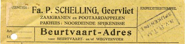GE_SCHELLING_001 Geervliet, Schelling - Fa. P. Schelling, zaaigranen en pootaardappelen, (1946)