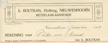 NN_BOUTKAN_001 Nieuwenhoorn, Boutkan - A. Boutkan, Metselaar-Aannemer, (1919)