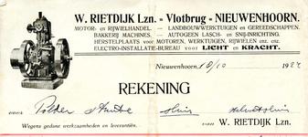 NN_RIETDIJK_005 Nieuwenhoorn, Rietdijk - W. Rietdijk Lzn., Motor- en rijwielhandel - Landbouwwerktuigen en ...