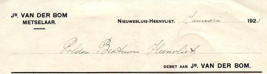 NS_BOM_001 Nieuwesluis, Van der Bom - Jb. van der Bom, Metselaar, (1925)