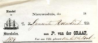 NS_GRAAF_001 Nieuwesluis, Van der Graaf - Jb. van der Graaf: Handel in Steenkolen, (1878)
