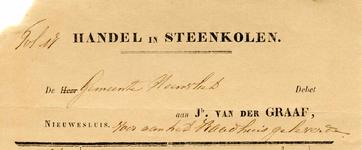 NS_GRAAF_003 Nieuwesluis, Van der Graaf - Jb. van der Graaf, Handel in Steenkolen