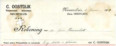 NS_OOSTDIJK_004 Nieuwesluis, Oostdijk - C. Oostdijk, Timmerman - Aannemer, (1919)