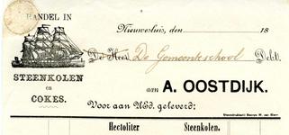 NS_OOSTDIJK_005 Nieuwesluis, Oostdijk - A. Oostdijk, Handel in Steenkolen en cokes