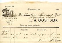 NS_OOSTDIJK_006 Nieuwesluis, Oostdijk - A. Oostdijk, Handel in Steenkolen en cokes, (1909)