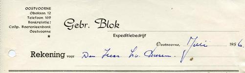 OV_BLOK_001 Oostvoorne, Blok - Gebr. Blok, Expeditiebedrijf, (1956)