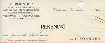 OV_BOENDER_001 Oostvoorne, Boender - C. Boender, Lood- en zinkwerken. Aanleg gas- en waterleiding. Mastiek ...