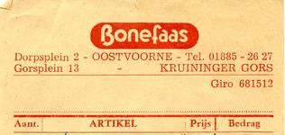 OV_BONEFAAS_001 Oostvoorne, Bonefaas - Bonefaas, Textiel
