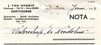 OV_HENNIK_002 Oostvoorne, Van Hennik - J. van Hennik, IJzerwaren - Huishoudelijke Artikelen, Kachels - ...